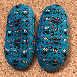 Cookie Monster Slippers. Size small.